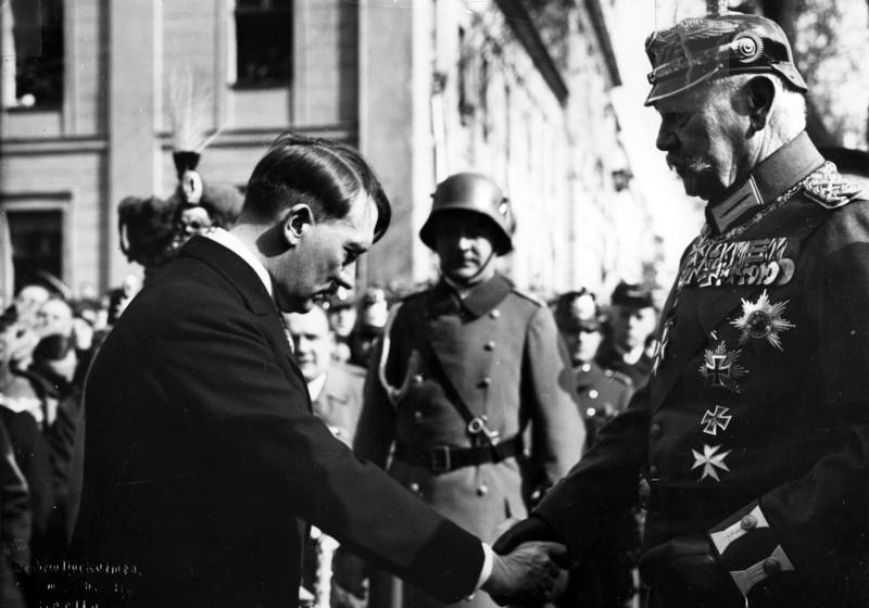 Hitler and Hindenburg. Photo taken by Theo Eisenhart.