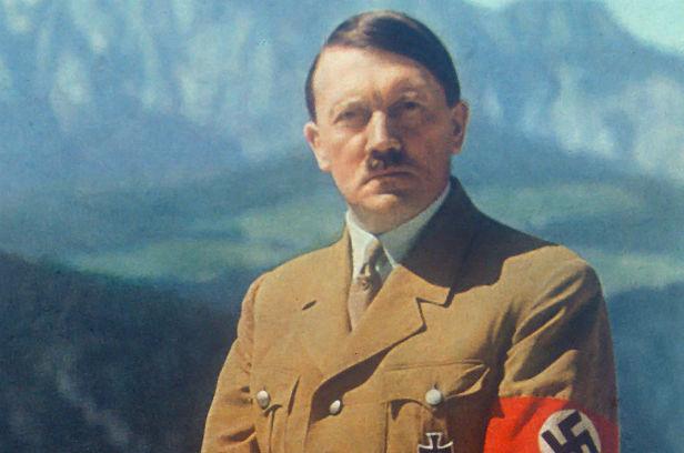 A rare colour photo of Adolf Hitler