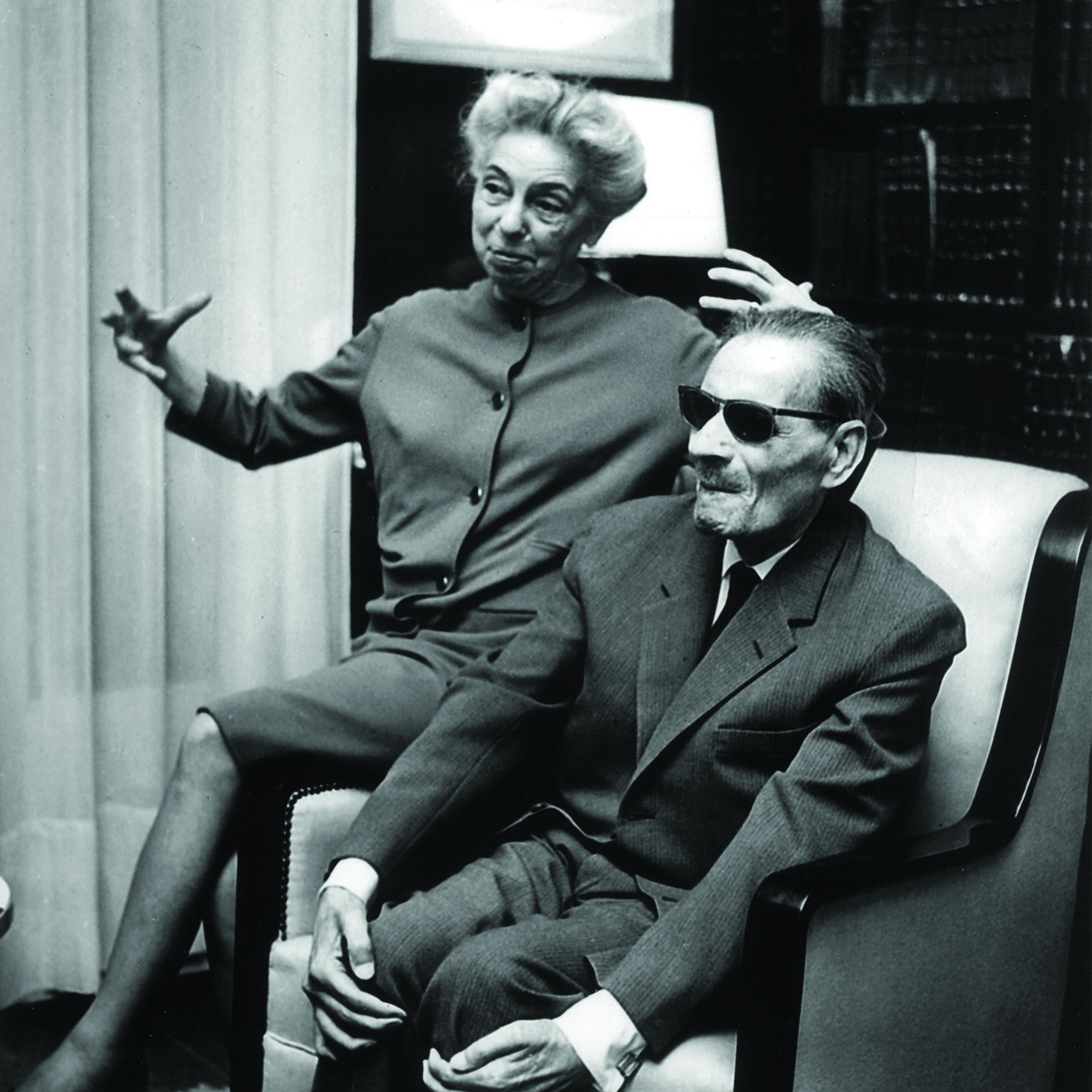 Taha Hussein (right), one of 20th Century Egypt's most one of the most influential  writers and intellectuals