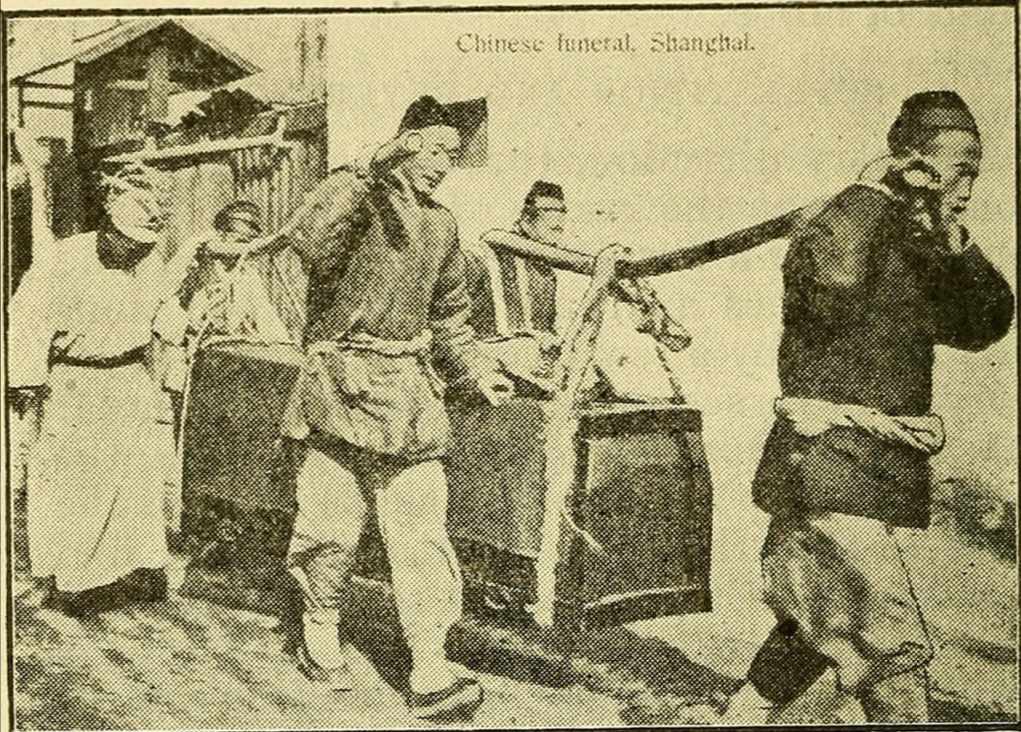 A Chinese funeral, circa 1910