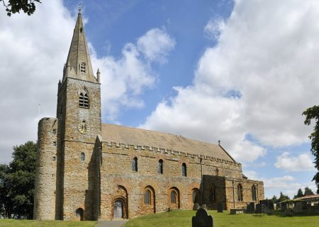 All Saints' Church in Brixworth is a large example of Anglo-Saxon architecture.