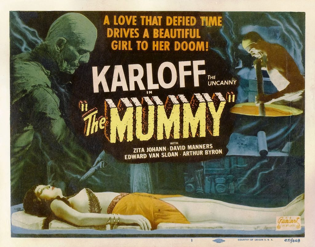 The poster for 1932 horror film The Mummy